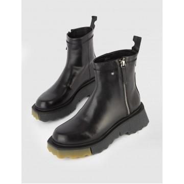 Liza чёрные кожаные женские ботинки